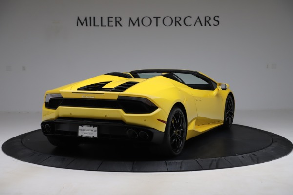 Used 2018 Lamborghini Huracan LP 580-2 Spyder for sale $203,900 at Bugatti of Greenwich in Greenwich CT 06830 7