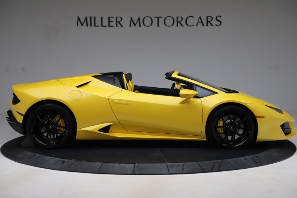 Used 2018 Lamborghini Huracan LP 580-2 Spyder for sale $203,900 at Bugatti of Greenwich in Greenwich CT 06830 9