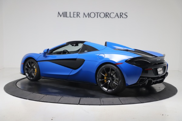 New 2020 McLaren 570S Spider Convertible for sale $236,270 at Bugatti of Greenwich in Greenwich CT 06830 3