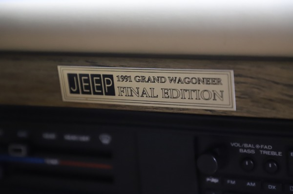 Used 1991 Jeep Grand Wagoneer for sale Call for price at Bugatti of Greenwich in Greenwich CT 06830 24