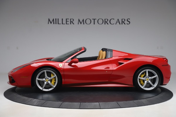 Used 2018 Ferrari 488 Spider Base for sale Sold at Bugatti of Greenwich in Greenwich CT 06830 3