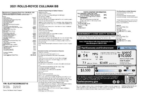 New 2021 Rolls-Royce Cullinan Black Badge for sale Sold at Bugatti of Greenwich in Greenwich CT 06830 11