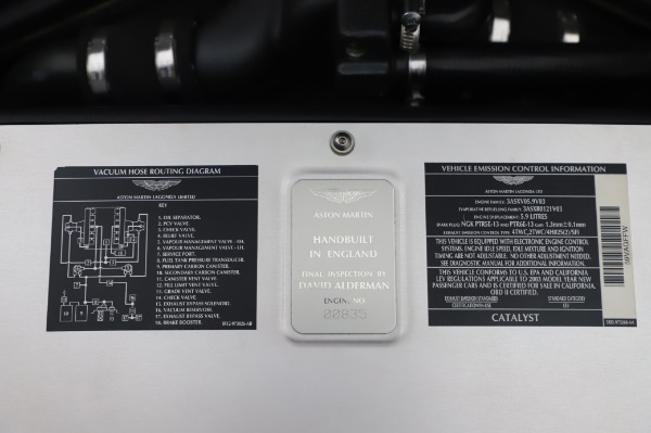 Used 2003 Aston Martin V12 Vanquish Coupe for sale $79,900 at Bugatti of Greenwich in Greenwich CT 06830 25