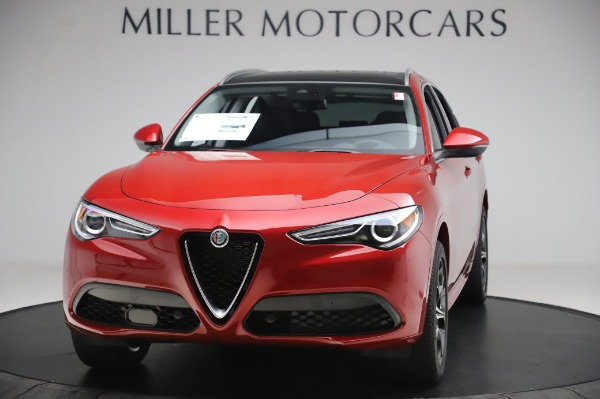 New 2020 Alfa Romeo Stelvio Ti Lusso Q4 for sale $56,495 at Bugatti of Greenwich in Greenwich CT 06830 1