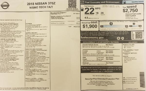 Used 2018 Nissan 370Z NISMO Tech for sale $39,900 at Bugatti of Greenwich in Greenwich CT 06830 28