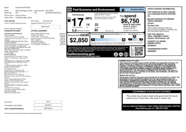 New 2021 Aston Martin DBS Superleggera Volante for sale $362,486 at Bugatti of Greenwich in Greenwich CT 06830 25