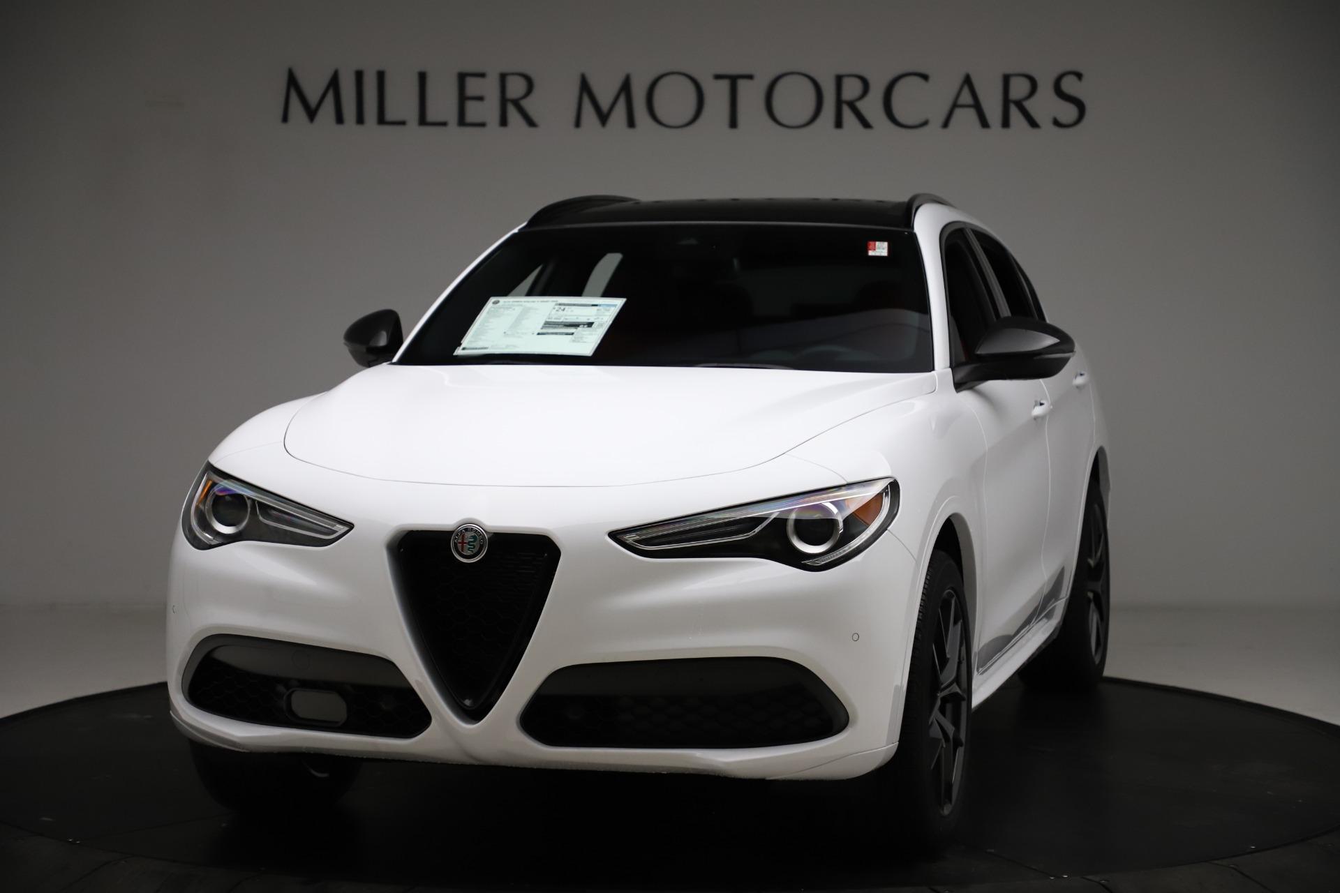 New 2021 Alfa Romeo Stelvio Ti Sport Q4 for sale $55,490 at Bugatti of Greenwich in Greenwich CT 06830 1