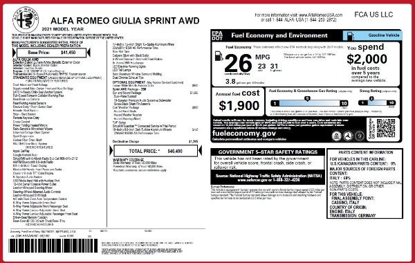 New 2021 Alfa Romeo Giulia Q4 for sale Sold at Bugatti of Greenwich in Greenwich CT 06830 26