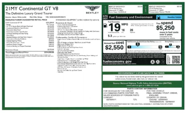New 2021 Bentley Continental GT V8 for sale Call for price at Bugatti of Greenwich in Greenwich CT 06830 26