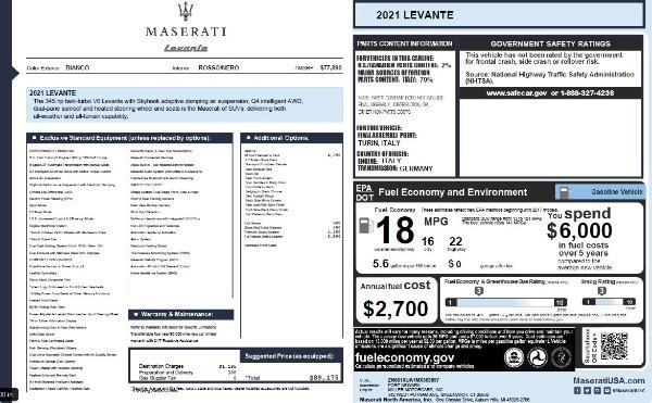 New 2021 Maserati Levante Q4 for sale Call for price at Bugatti of Greenwich in Greenwich CT 06830 27