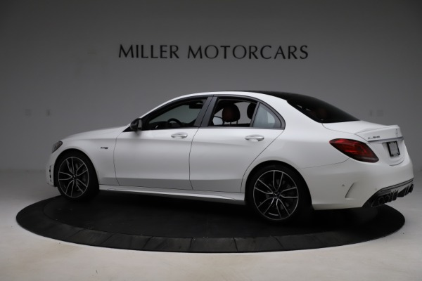 Used 2019 Mercedes-Benz C-Class AMG C 43 for sale Call for price at Bugatti of Greenwich in Greenwich CT 06830 5