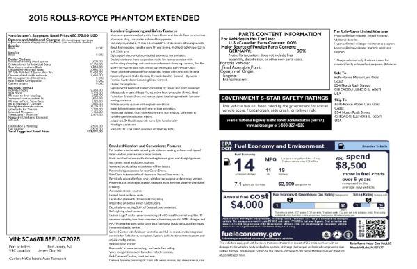 Used 2015 Rolls-Royce Phantom EWB for sale $299,900 at Bugatti of Greenwich in Greenwich CT 06830 26