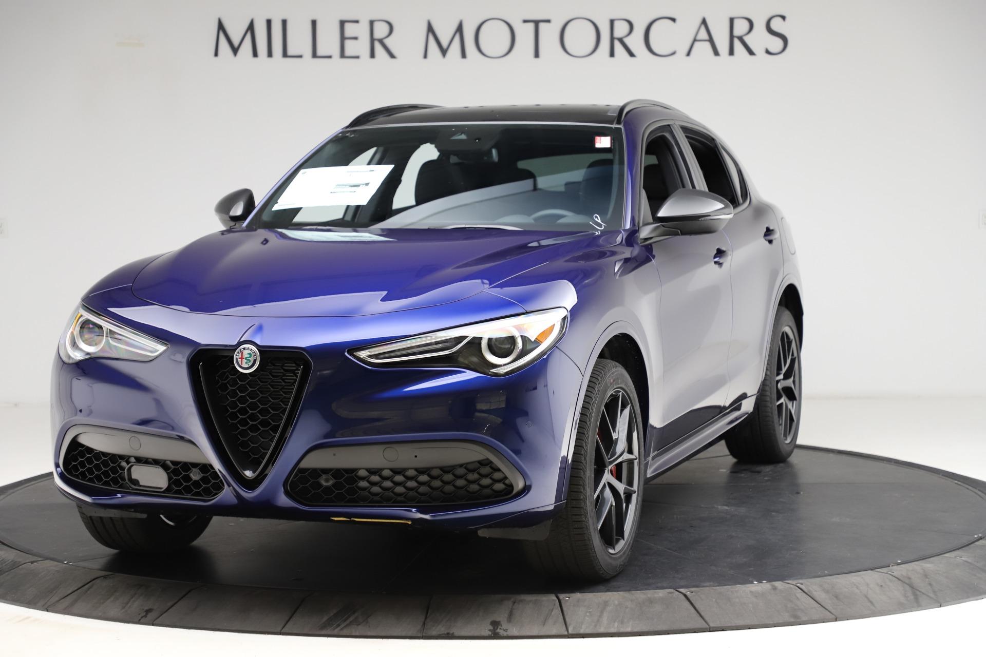 New 2021 Alfa Romeo Stelvio Ti Sport Q4 for sale $56,750 at Bugatti of Greenwich in Greenwich CT 06830 1
