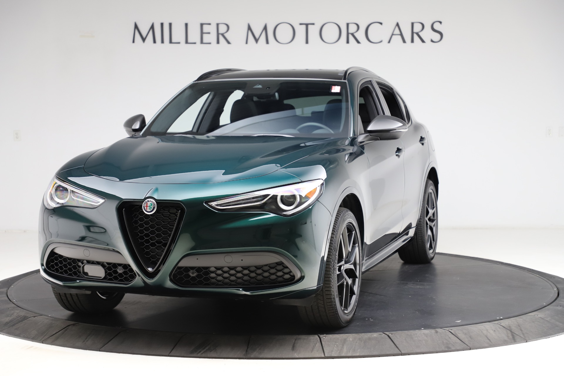 New 2021 Alfa Romeo Stelvio Ti Sport Q4 for sale $56,450 at Bugatti of Greenwich in Greenwich CT 06830 1