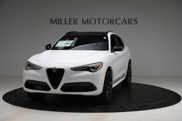 New 2021 Alfa Romeo Stelvio Ti Sport Q4 for sale $56,040 at Bugatti of Greenwich in Greenwich CT 06830 1