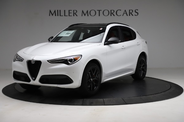 New 2021 Alfa Romeo Stelvio Ti Sport Q4 for sale $58,540 at Bugatti of Greenwich in Greenwich CT 06830 2