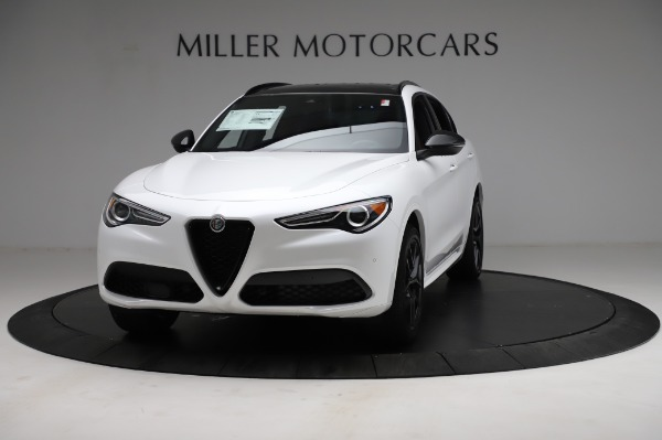 New 2021 Alfa Romeo Stelvio Ti Sport Q4 for sale $58,540 at Bugatti of Greenwich in Greenwich CT 06830 1