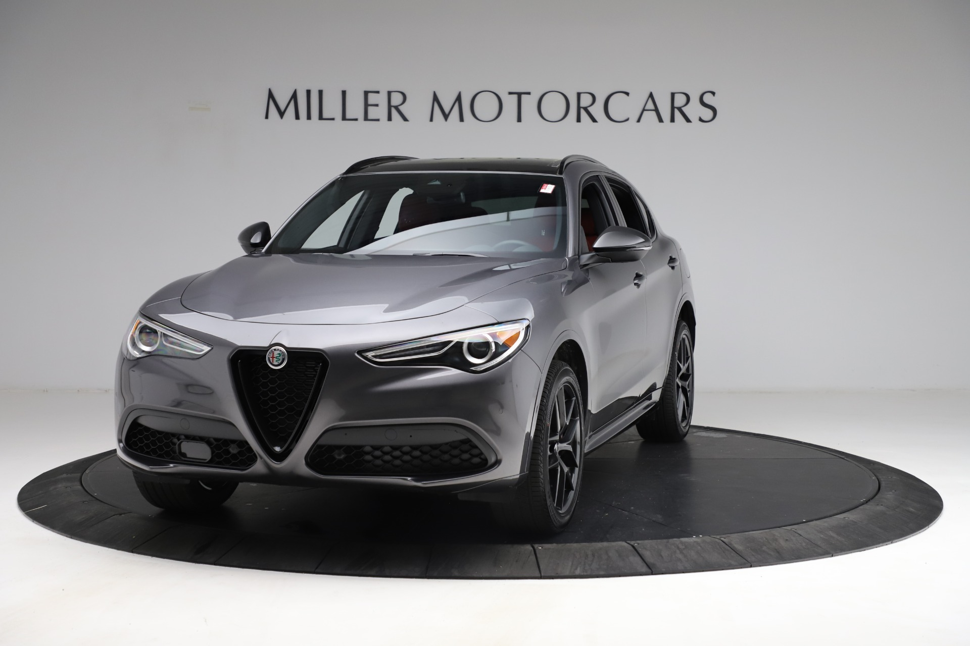New 2021 Alfa Romeo Stelvio Ti Sport Q4 for sale $55,950 at Bugatti of Greenwich in Greenwich CT 06830 1