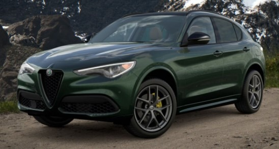 New 2021 Alfa Romeo Stelvio Ti Sport Q4 for sale $56,400 at Bugatti of Greenwich in Greenwich CT 06830 1