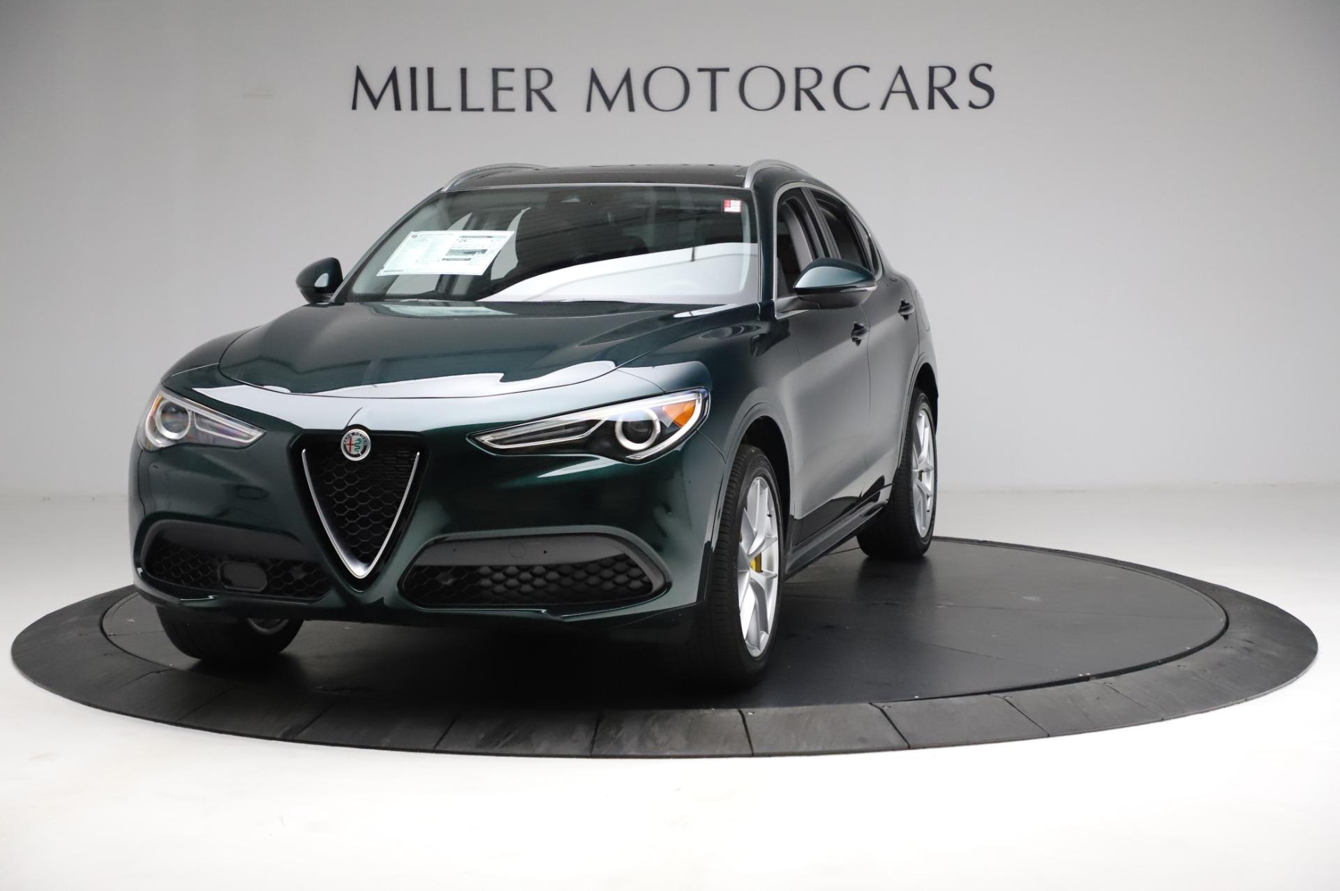 New 2021 Alfa Romeo Stelvio Ti Q4 for sale $53,800 at Bugatti of Greenwich in Greenwich CT 06830 1