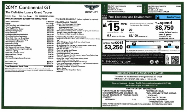 Used 2020 Bentley Continental GT W12 for sale $299,900 at Bugatti of Greenwich in Greenwich CT 06830 28