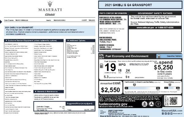 New 2021 Maserati Ghibli S Q4 GranSport for sale Call for price at Bugatti of Greenwich in Greenwich CT 06830 2
