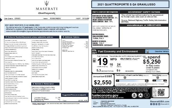 New 2021 Maserati Quattroporte S Q4 GranLusso for sale $122,435 at Bugatti of Greenwich in Greenwich CT 06830 27