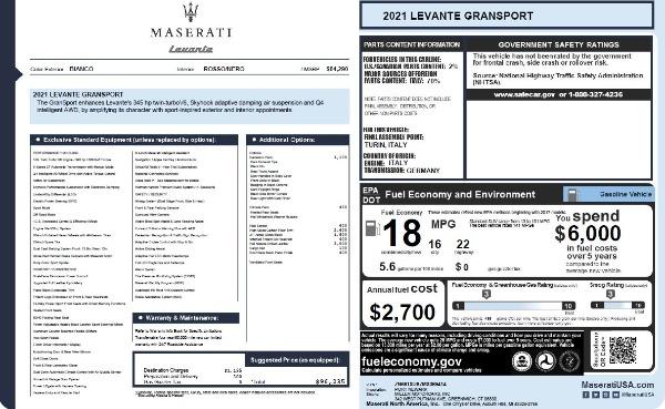New 2021 Maserati Levante Q4 GranSport for sale $96,235 at Bugatti of Greenwich in Greenwich CT 06830 26