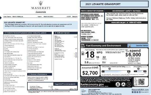 New 2021 Maserati Levante Q4 GranSport for sale $92,735 at Bugatti of Greenwich in Greenwich CT 06830 28