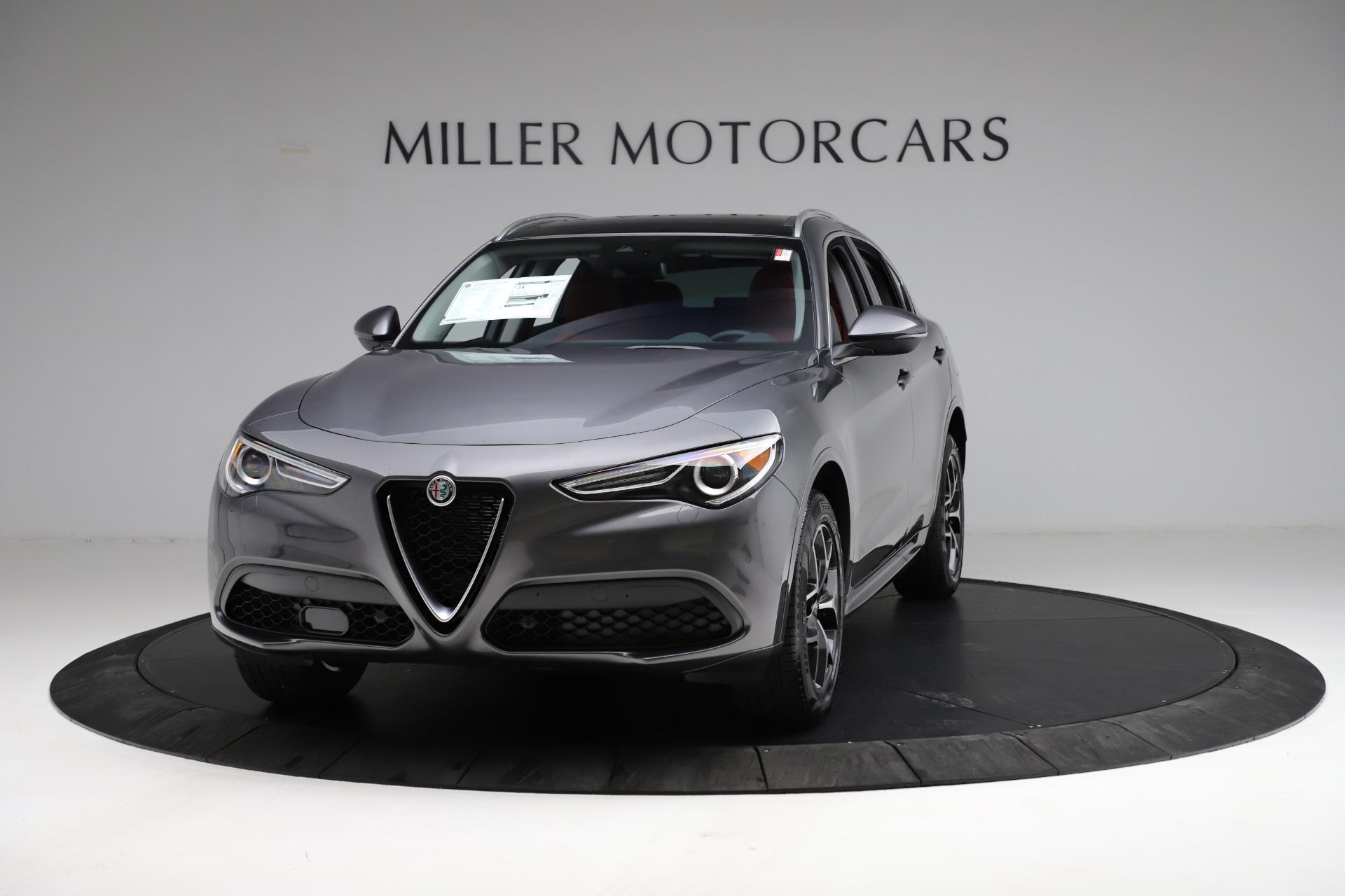 New 2021 Alfa Romeo Stelvio Ti Q4 for sale $55,500 at Bugatti of Greenwich in Greenwich CT 06830 1