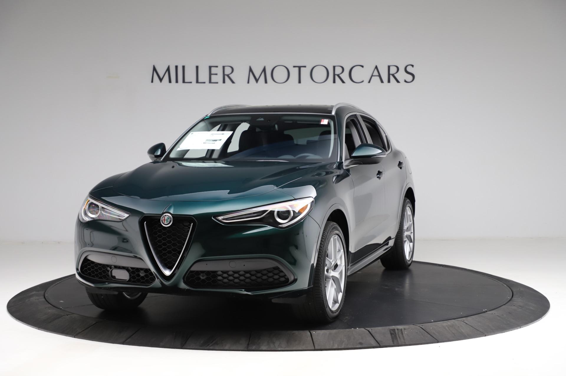 New 2021 Alfa Romeo Stelvio Ti Q4 for sale $53,500 at Bugatti of Greenwich in Greenwich CT 06830 1