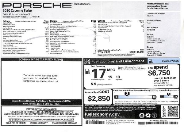 Used 2020 Porsche Cayenne Turbo for sale $145,900 at Bugatti of Greenwich in Greenwich CT 06830 28