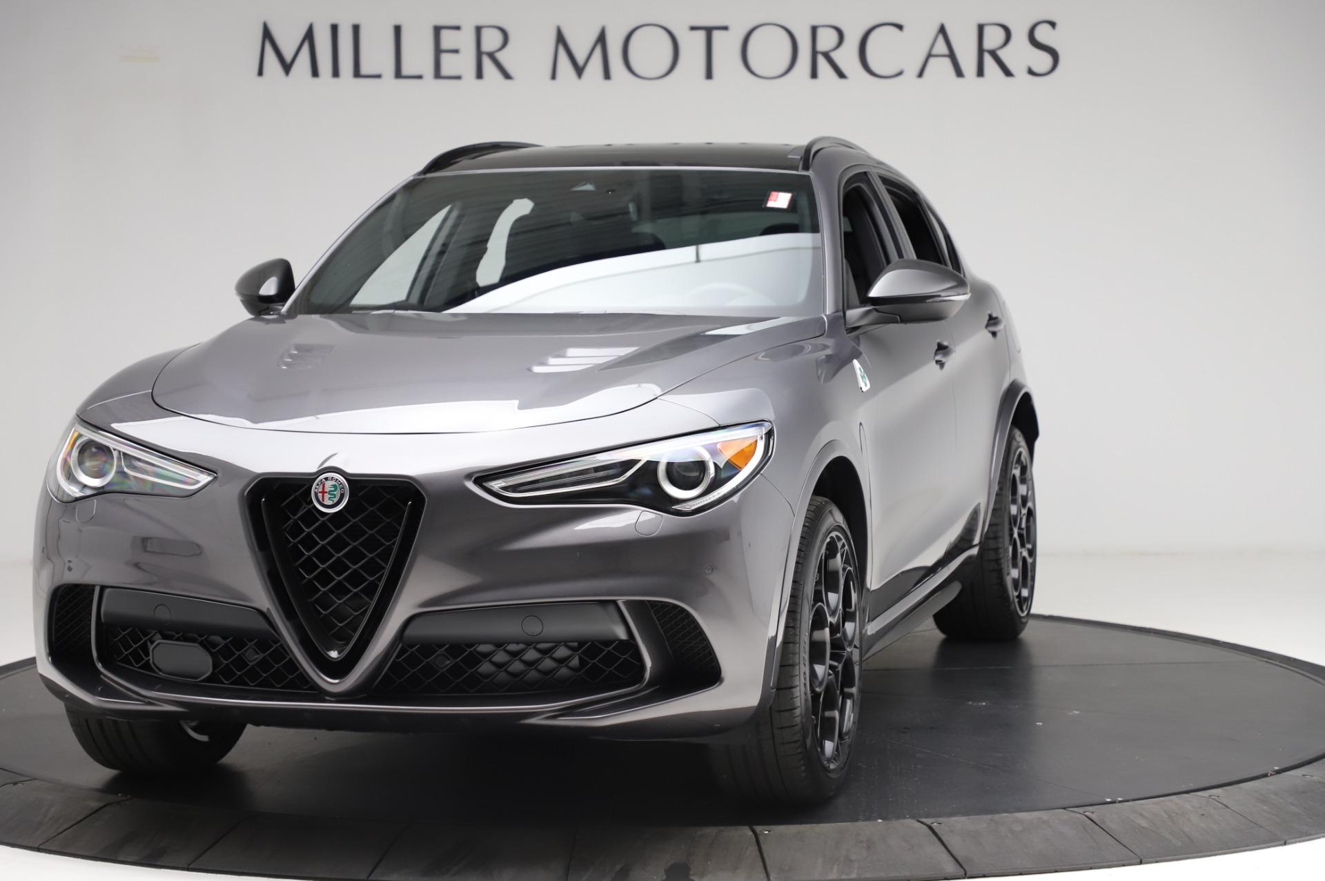New 2021 Alfa Romeo Stelvio Quadrifoglio for sale $91,750 at Bugatti of Greenwich in Greenwich CT 06830 1