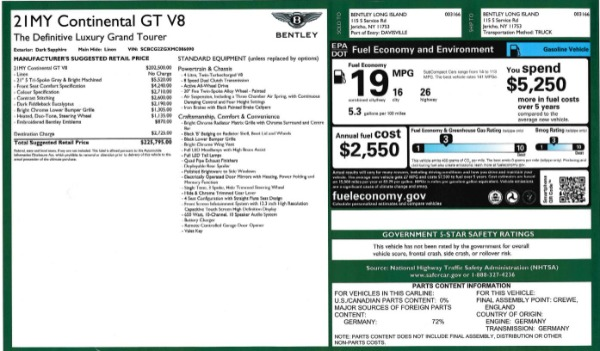 Used 2021 Bentley Continental GT V8 for sale Sold at Bugatti of Greenwich in Greenwich CT 06830 27