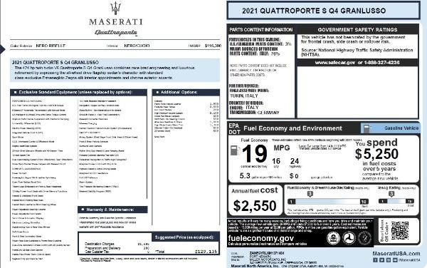New 2021 Maserati Quattroporte S Q4 GranLusso for sale $129,135 at Bugatti of Greenwich in Greenwich CT 06830 27