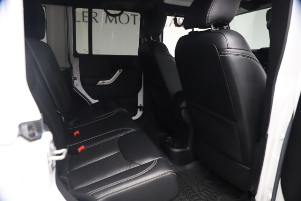 Used 2015 Jeep Wrangler Unlimited Rubicon Hard Rock for sale $39,900 at Bugatti of Greenwich in Greenwich CT 06830 21