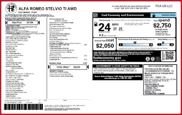 New 2021 Alfa Romeo Stelvio Ti Q4 for sale Sold at Bugatti of Greenwich in Greenwich CT 06830 20