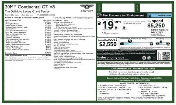Used 2020 Bentley Continental GT V8 for sale $249,900 at Bugatti of Greenwich in Greenwich CT 06830 28