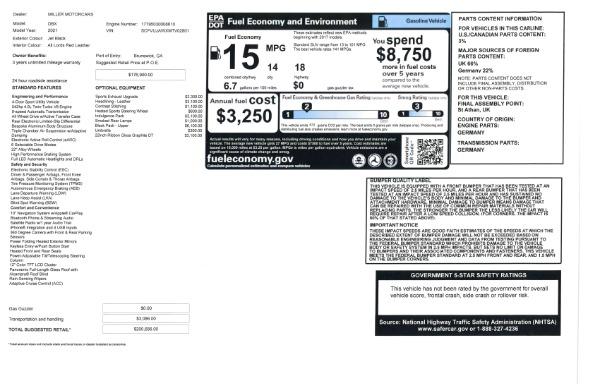 New 2021 Aston Martin DBX for sale $200,686 at Bugatti of Greenwich in Greenwich CT 06830 26