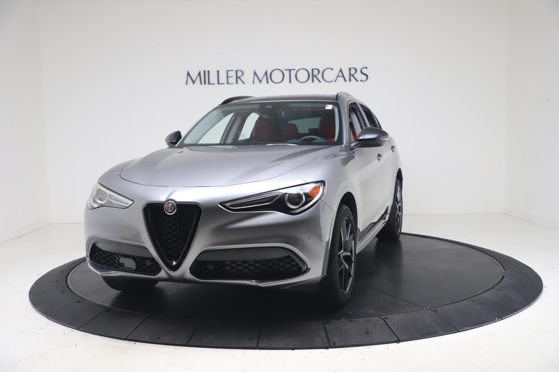New 2021 Alfa Romeo Stelvio Ti Q4 for sale $54,400 at Bugatti of Greenwich in Greenwich CT 06830 1