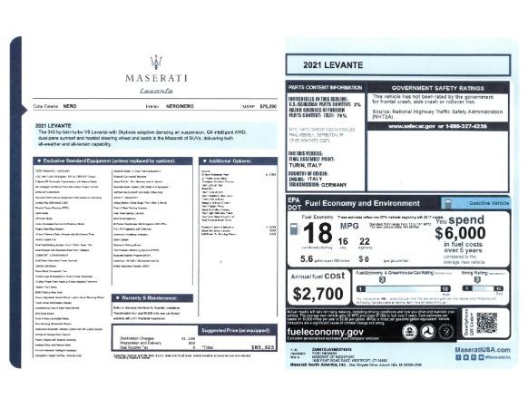 New 2021 Maserati Levante for sale Sold at Bugatti of Greenwich in Greenwich CT 06830 2