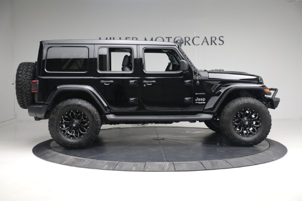Used 2020 Jeep Wrangler Unlimited Sahara for sale Sold at Bugatti of Greenwich in Greenwich CT 06830 11