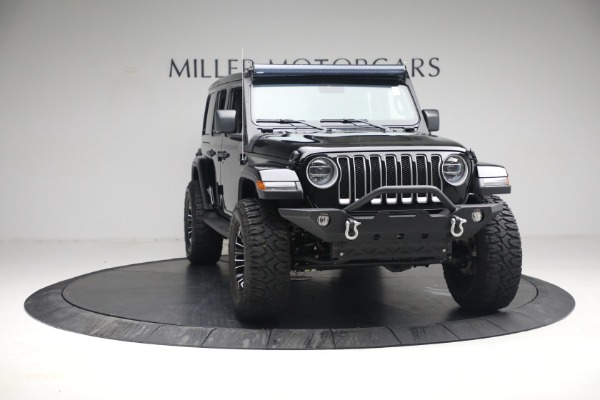 Used 2020 Jeep Wrangler Unlimited Sahara for sale Sold at Bugatti of Greenwich in Greenwich CT 06830 14