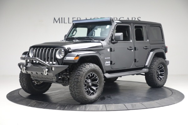 Used 2020 Jeep Wrangler Unlimited Sahara for sale Sold at Bugatti of Greenwich in Greenwich CT 06830 2