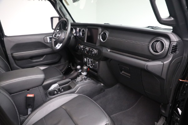 Used 2020 Jeep Wrangler Unlimited Sahara for sale Sold at Bugatti of Greenwich in Greenwich CT 06830 20