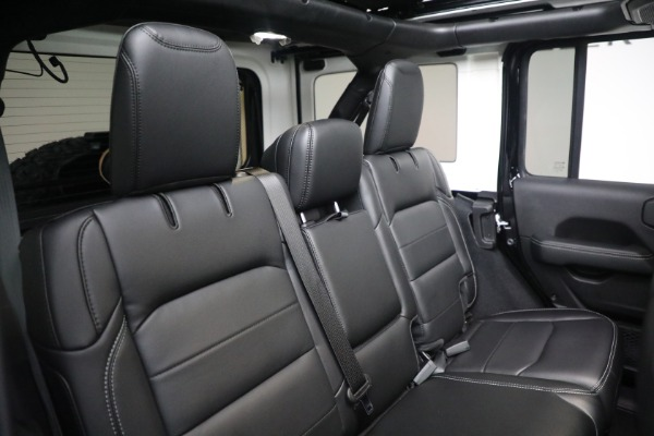 Used 2020 Jeep Wrangler Unlimited Sahara for sale Sold at Bugatti of Greenwich in Greenwich CT 06830 24