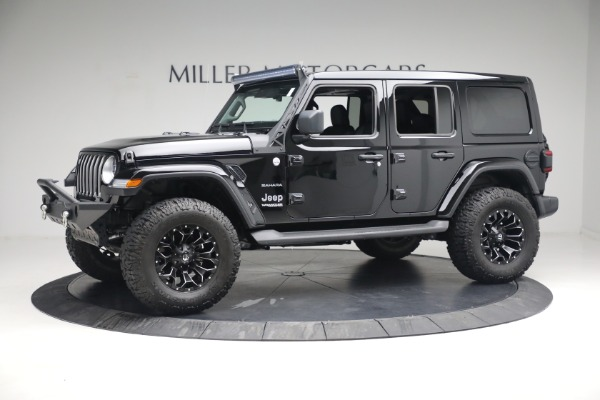 Used 2020 Jeep Wrangler Unlimited Sahara for sale Sold at Bugatti of Greenwich in Greenwich CT 06830 3