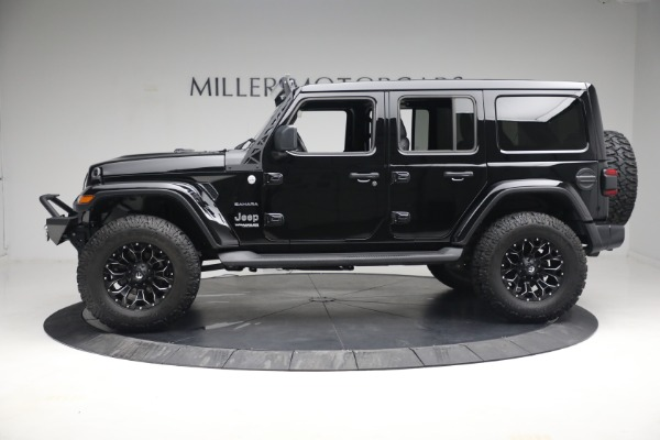 Used 2020 Jeep Wrangler Unlimited Sahara for sale Sold at Bugatti of Greenwich in Greenwich CT 06830 4