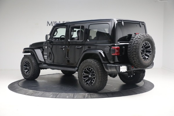 Used 2020 Jeep Wrangler Unlimited Sahara for sale Sold at Bugatti of Greenwich in Greenwich CT 06830 6
