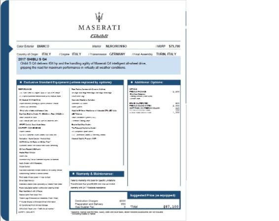 Used 2017 Maserati Ghibli S Q4 for sale Sold at Bugatti of Greenwich in Greenwich CT 06830 25
